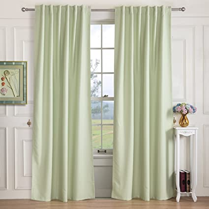 Light Green Blackout Curtains