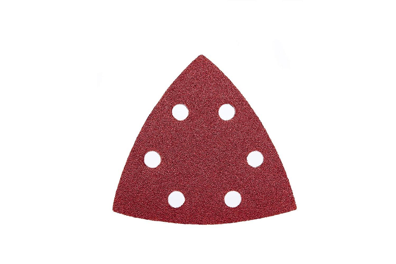 6/trous/ 100/feuilles de pon/çage Velcro Triangles pour ponceuse Delta/ /93/x 93/x 93/mm /Grain 120//Delta Ponceuse//pon/çage Triangles//Papier abrasif