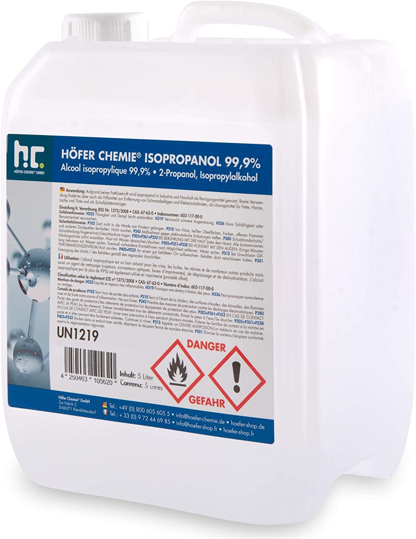 15 x 1 Litre Isopropanol 99.9% IPA from Höfer Chemie fresh