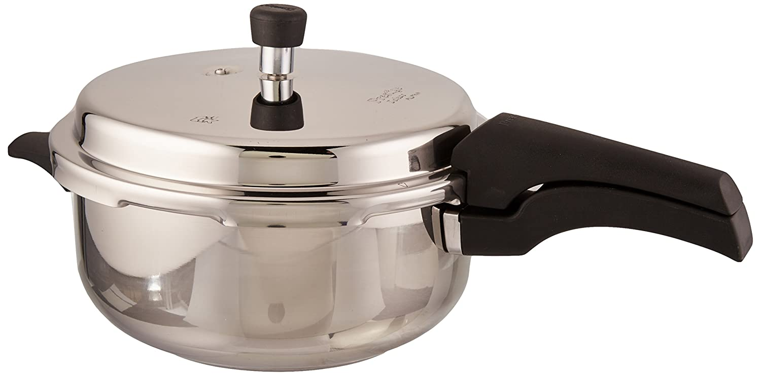 9d5e3e86f0c Prestige 5L Alpha Deluxe Induction Base Stainless Steel Deep Pressure Pan