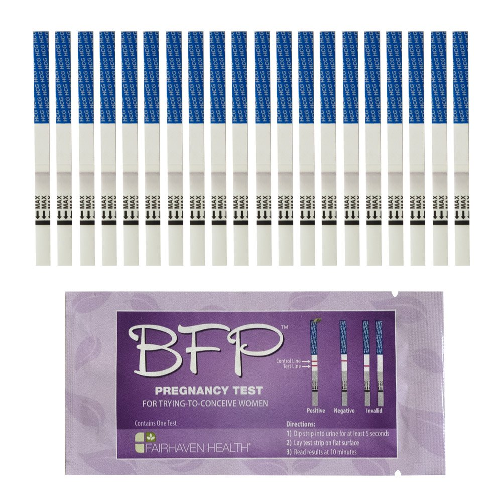 BFP Pregnancy Test Strips: 20 Pack, Made in N. America by Fairhaven Health