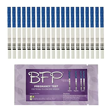 BFP Pregnancy Test Strips: 20 Pack, Made in N  America