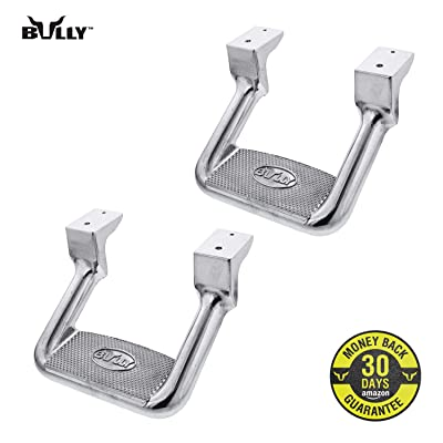 Bully AS-200 Universal Truck Polished Aluminum Side Hoop Step Set 2 Pieces Includes Mounting Brackets - Fits Various Trucks from Chevy (Chevrolet), Ford, Toyota, GMC, Dodge RAM and Jeep: Automotive
