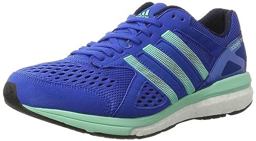best website af2d8 42a36 adidas Mens Adizero Tempo Running Shoes, (BlueNight NavyEasy Green)