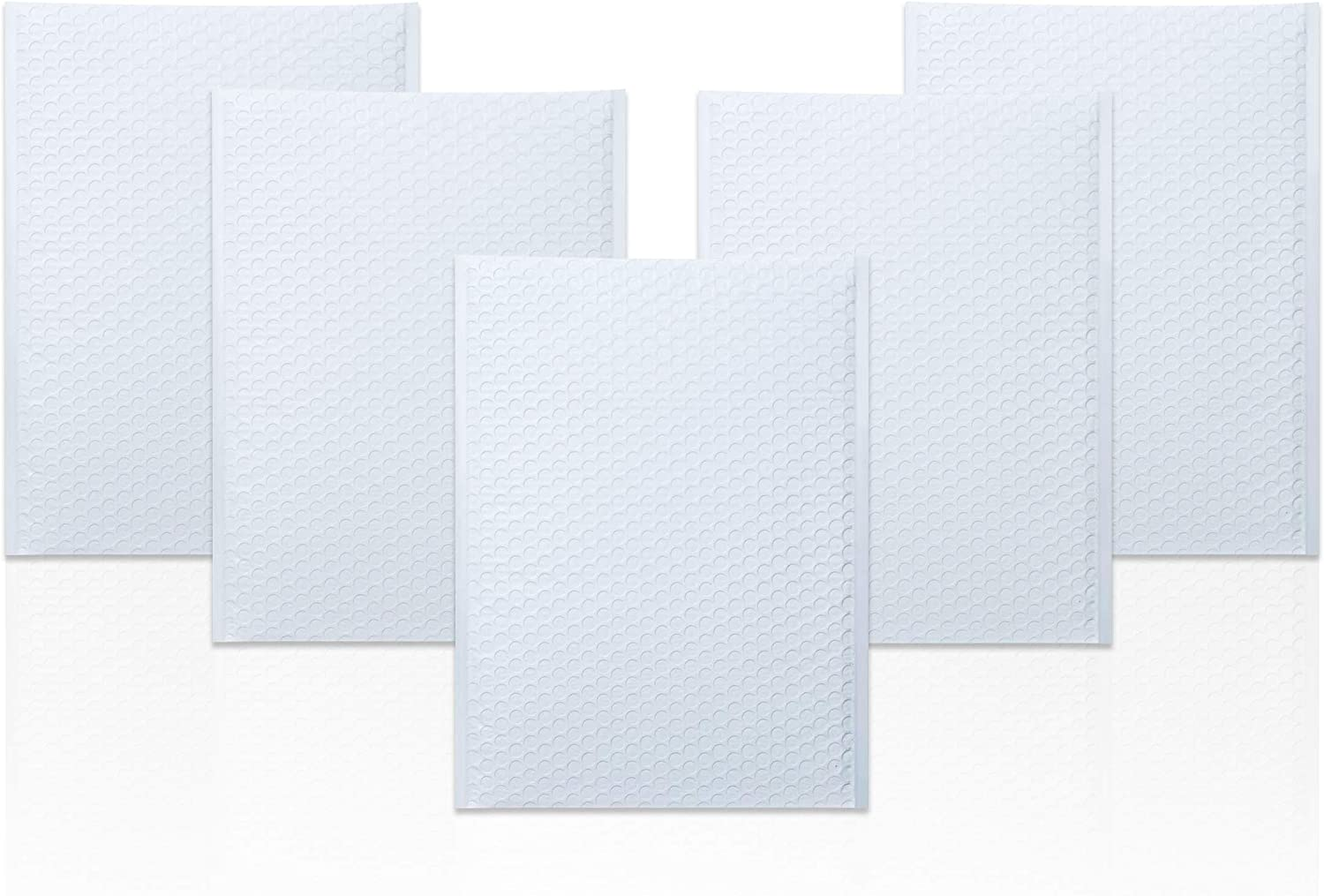 White Poly bubble mailers 12.5 x 18 Padded envelopes 12 1/2 x 18 Pack of 10 Large Poly cushion envelopes. Peel and Seal. Mailing, shipping.
