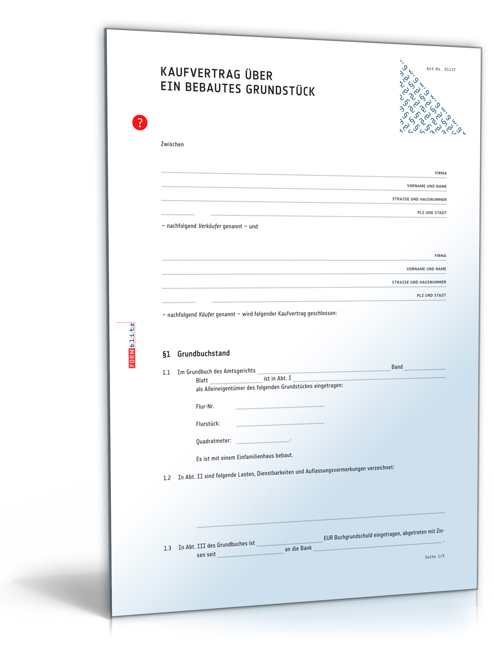 kaufvertrag haus doc vertrag fr immobilie oder bebautes grundstck download amazonde software - Vorvertrag Grundstuckskauf Muster Kostenlos