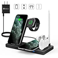 Deals on WAITIEE 5 in 1 Qi Wireless Charging Station for Apple