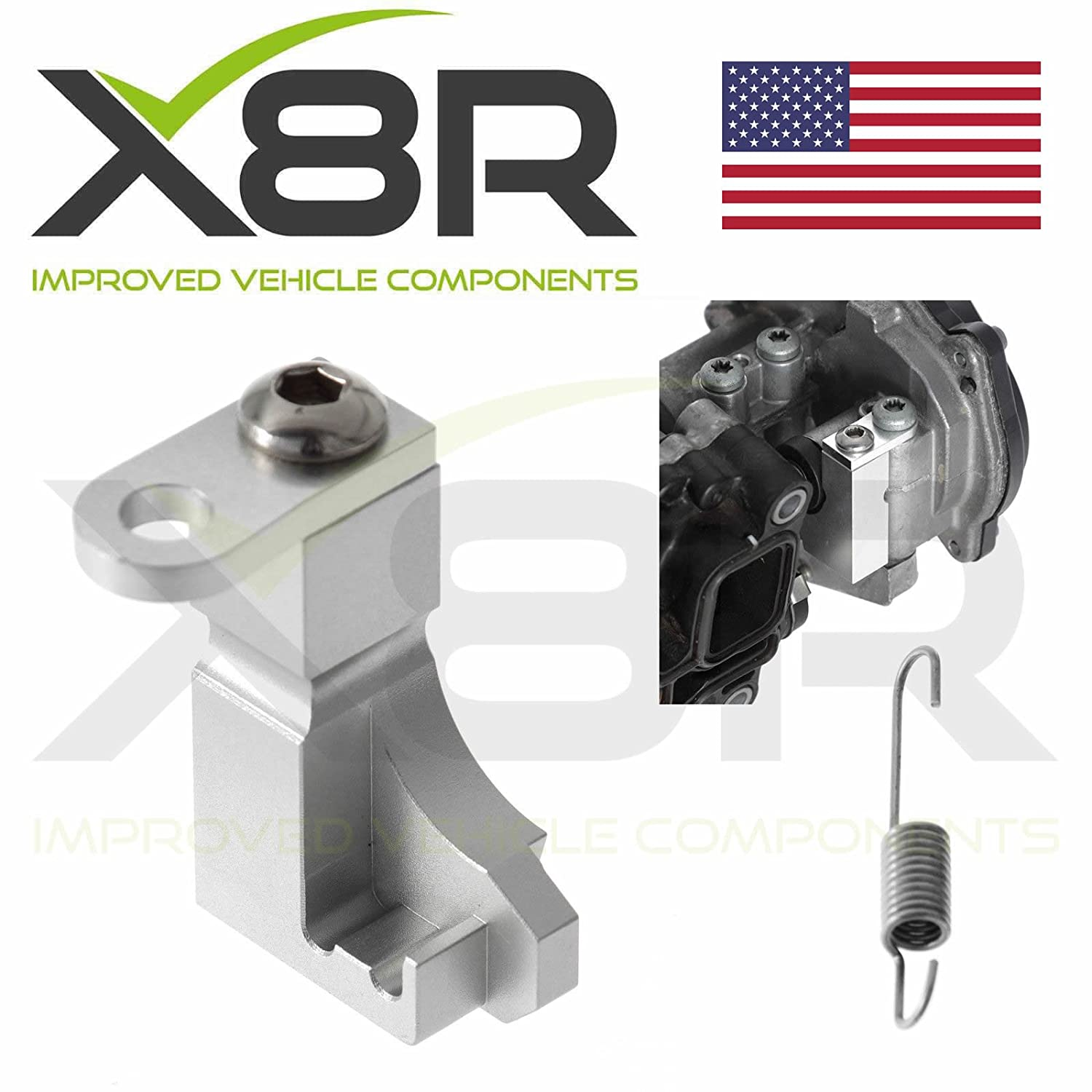 X8R Repair Kit Bracket Inlet Aluminium Manifold Actuator Motor V157 Flap  P2015 Error applicable to Volkswagen 2 0 TDI Part: X8R0134