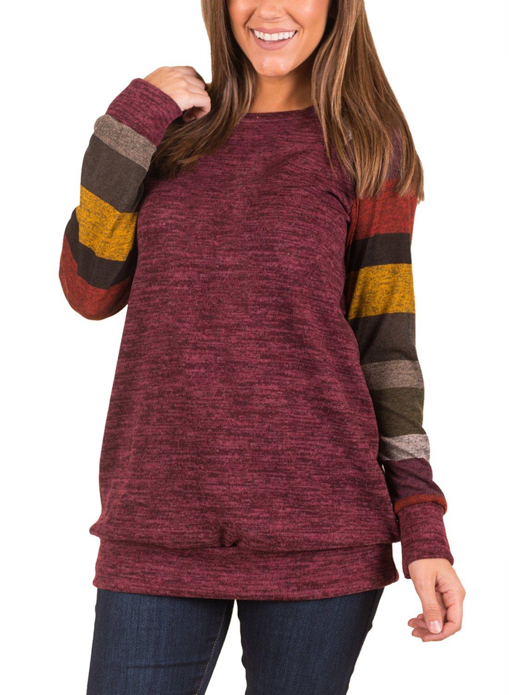 Dearlove Womens'Casual Long Multicolor Sleeve Autumn Sweatshirt Ladies Oversized Blouse Top DL250530