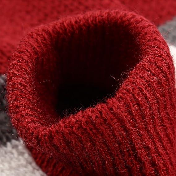 Amazon.com : eDealMax Patrón Raya de Lana del Animal doméstico de perrito del gato invierno de Punto capa del suéter de la ropa Caliente del Traje de la ...
