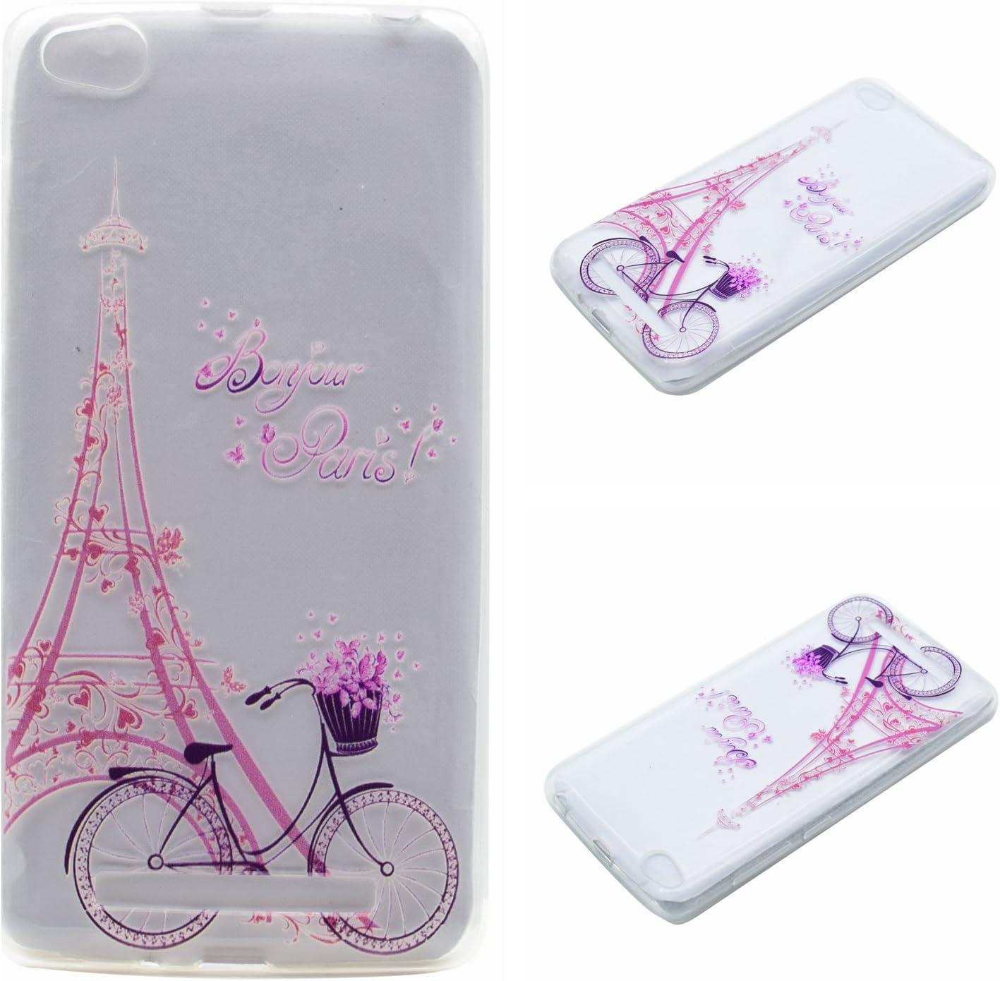 Qiaogle Teléfono Caso - Funda de TPU Silicona Carcasa Case Cover para Xiaomi HongMi 3 / Redmi3 Red Rice 3 (5.0 Pulgadas) - MM07 / Bonjour Paris