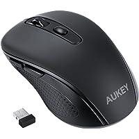 AUKEY Mouse Wireless mini, Pro Mouse Senza Fili con 1600DPI e microricevitore USB 2.0, Mouse Ottico con 12 Mesi Durata della Batteria, 2.4G per PC, Laptop e Mac, Nero