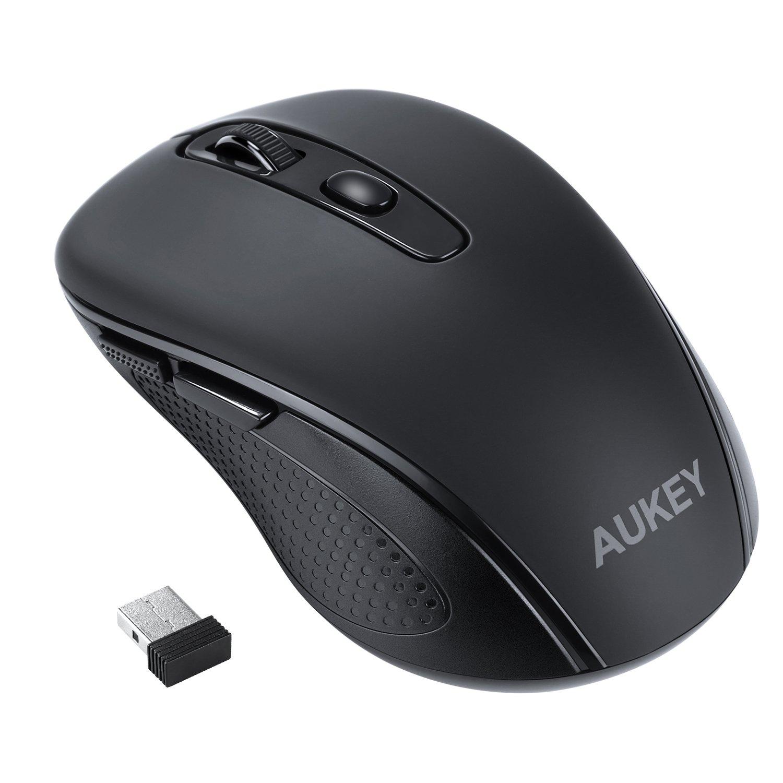 AUKEY 2.4GHz Souris Sans Fil USB avec 6 Boutons et 3 Niveaux de DPI Ré glables 800 / 1200 / 1600 pour PC et Ordinateur Portable