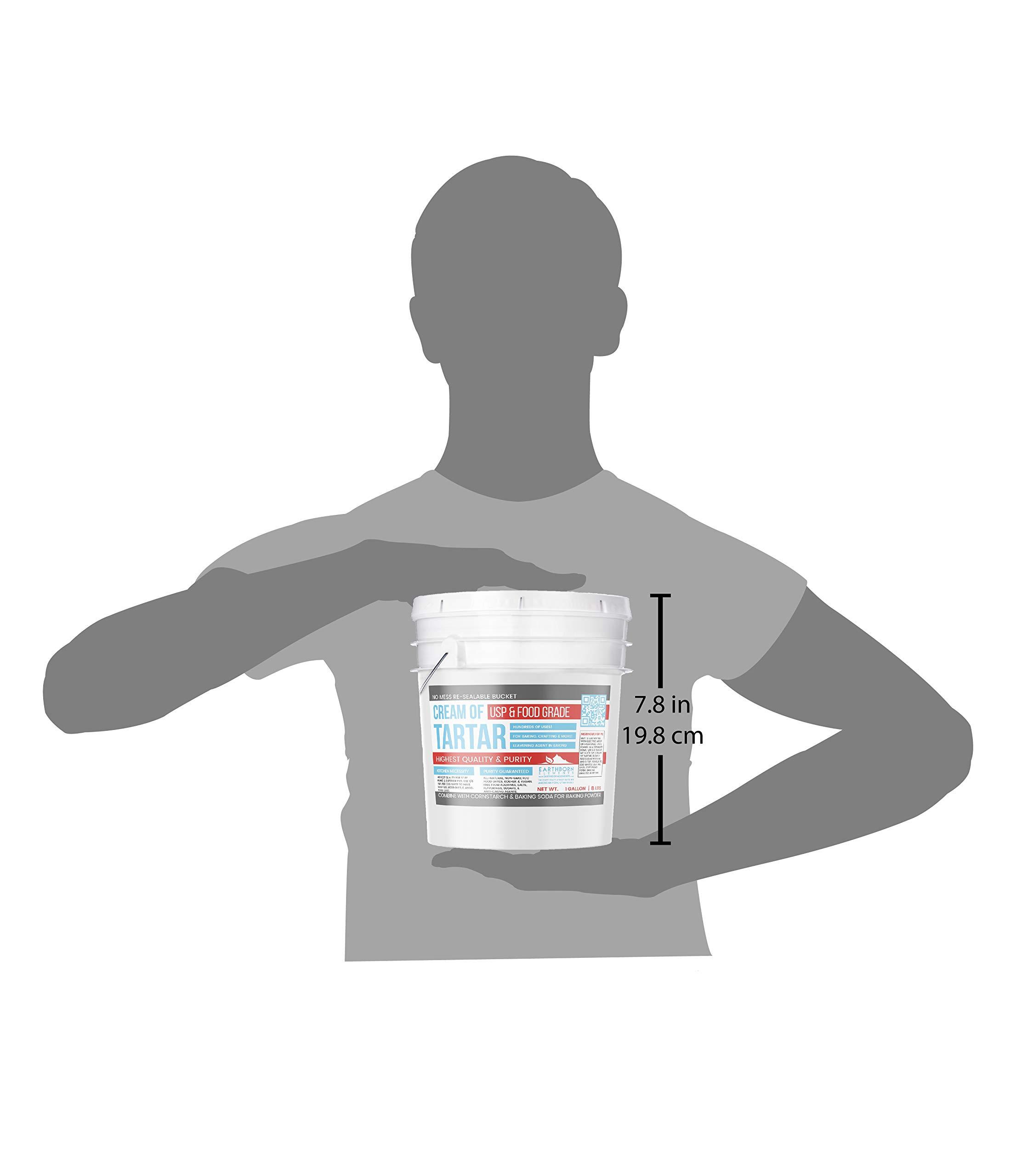 Cream of Tartar (1 Gallon) by Earthborn Elements, Resealable Bucket, Highest Purity, Baking Additive, Non-GMO, Kosher, Gluten-Free, All-Natural, DIY Bath Bombs by Earthborn Elements (Image #4)