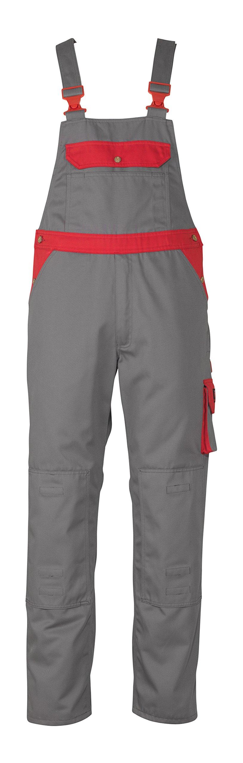 Mascot 00969430-88802-82C60''Milano'' Bib & Brace, L82cm/C60, Anthracite/red