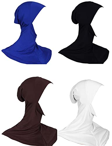 GladThink Donna Musulmana Mini Full Cover Hijab Caps Sciarpa Islamica 4 Pezzi