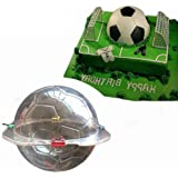 3D Soccer Chocolate Mold - MoldFun Large Size Plastic Football Mold for Candy, Soap,