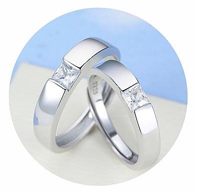Herren Damen Ring Silberring 925 Silber Email schwarz Geschenk Ehering Trauring