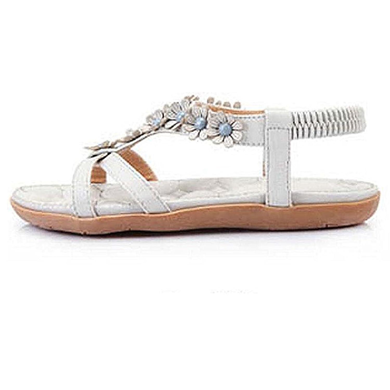 SJYO Women's Flat Sandals Flip Flop Slippers Sandals Flat Beach Sandals for women B072MXYPQQ 6.5 B(M) US|Grey3
