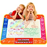 Security Water Doodle Mat, Colorful 40 X 28 Inch Magic Water Drawing Mat Pad Large Painting Mat with 3 Water Pens Art Writing Learning Toy Educational Travel Gift for Kids Toddlers Boys Girls
