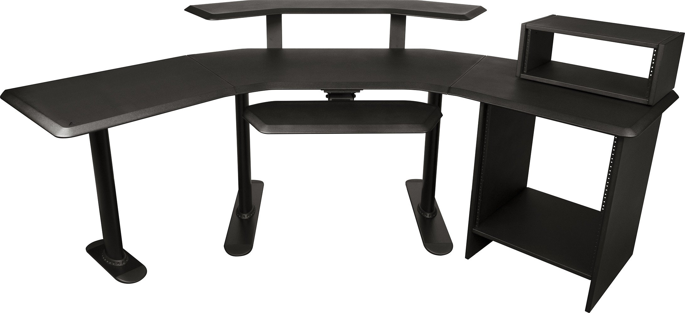 Ultimate Support Nucleus 4 - Studio Desk - Base model, 24'' extension, 12 space rack, 2nd Tier, 4 space rack, Keyboard Tray