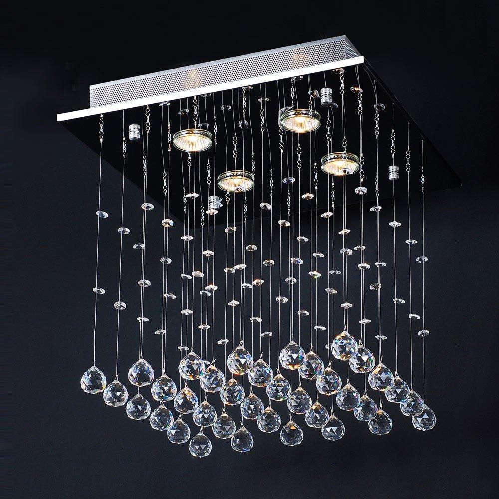 Jago- Lámpara Araña con Colgantes de Cristal Lámpara de Techo Lámpara Colgante Iluminación 40/