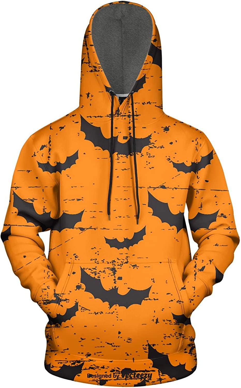 KiySi Mens Hoodie Happy Halloween Vampire Fashion Sweatshirt with Pocket