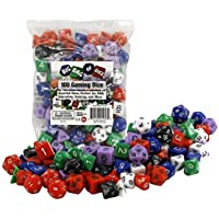 Fane Monster 100-Pieces Protectors Gaming Dice (Assorted Size)