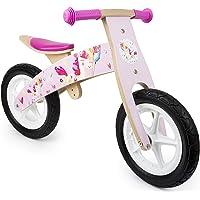Small Foot- Draisienne en Bois Rose, en Look apprécié Licorne, favorise l'habileté et prépare Les Enfants à Faire du vélo, avec siège réglable et Roues en Caoutchouc, à partir de 3 Ans. Jouets, 11254