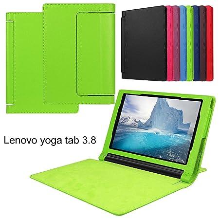Meimeiwu Lenovo Yoga Tab3 8.0 850F Funda - Ultra Slim Ligera PU Cuero con Soporte Tablet Funda Caso Case para Lenovo Yoga Tab3 8.0 850F - Verde