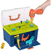 Battat - Battat Busy Builder 工具箱 - 耐用儿童工具套装 - 适合 3 岁儿童使用的假装游戏构造工具套件+(20 件)