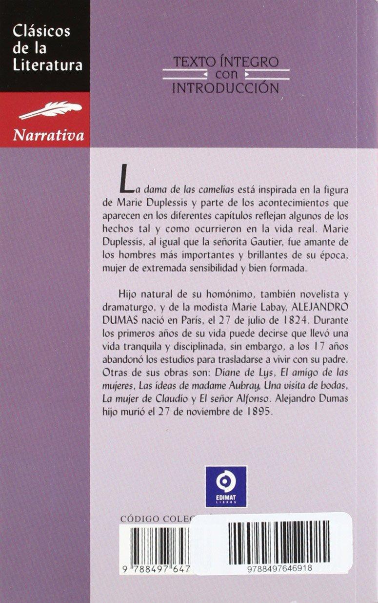La dama de las camelias Clásicos de la literatura universal: Amazon.es: Alejandro Dumas: Libros