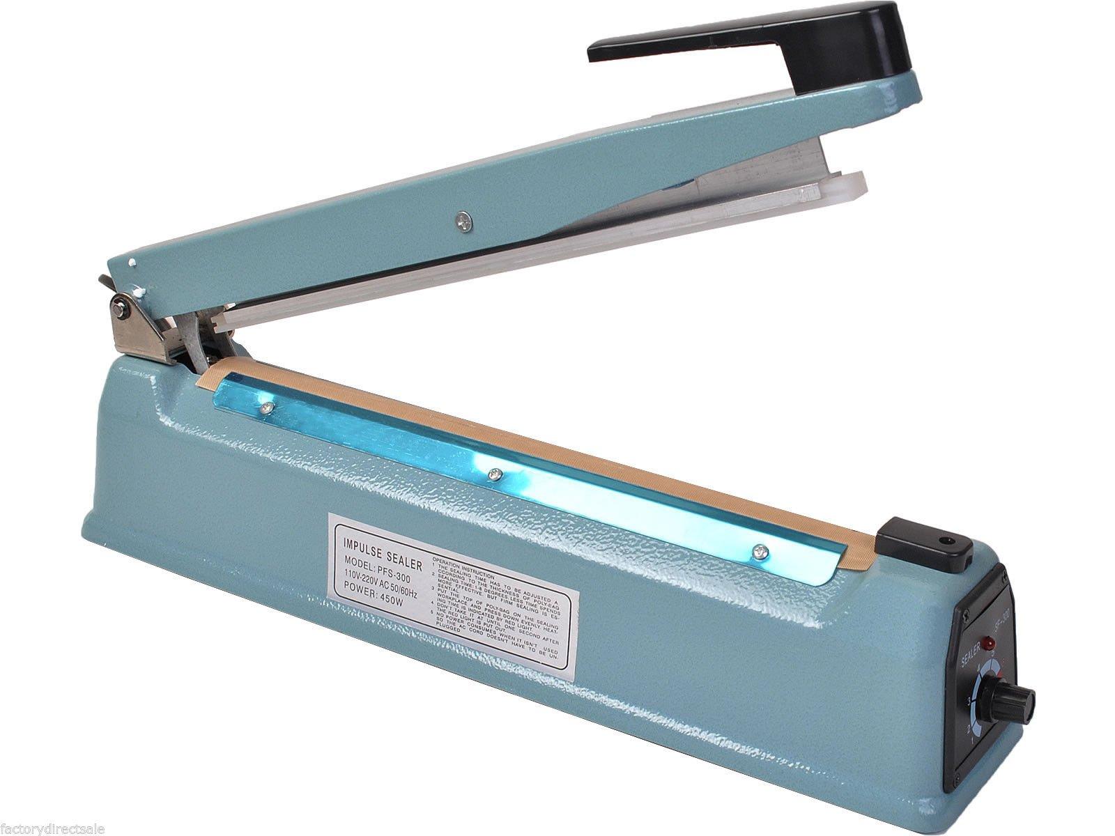 Super buy 12'' Heat Sealing Hand Impulse Sealer Machine Poly Free Element Grip& Teflon by Goplus (Image #7)