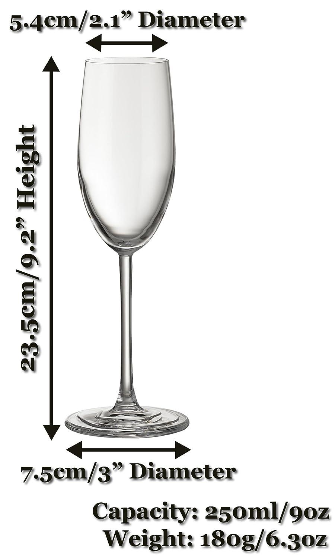Juego de copas de vino tinto 4/6/8 de 580 ml (tamaño grande y alto), copas de cristal ultrarmodernas para ocasiones especiales como bodas, para interior y ...