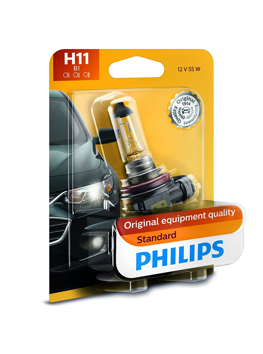 Philips 12362b1 H11 Standard Halogen Replacement Sx4 Central Locking Wiring Headlight Bulb 1 Pack Automotive