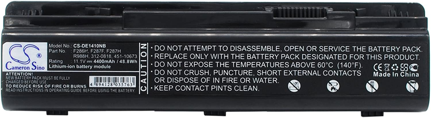 Cameron Sino Replacement Battery for DELL Inspiron 1410, Vostro 1014, Vostro 1014N, Vostro 1015, Vostro 1015N, Vostro 1088n, Vostro A840 (4400mAh)