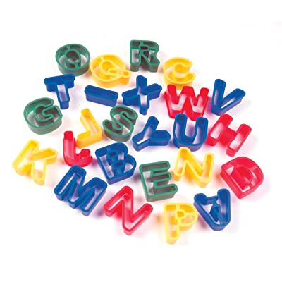 Creativity Street Dough Cutters, Capital Letters, 26-Pack: Toys & Games