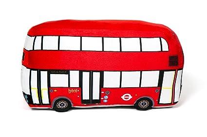 Amazon.com: Autobús de Londres cojín peluche de 3d, 2 – 4 ...