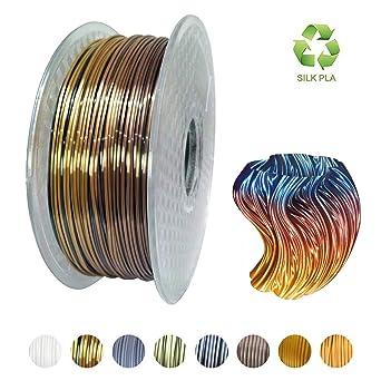 Amazon.com: Kehuashina Filamento de seda Pla para impresora ...