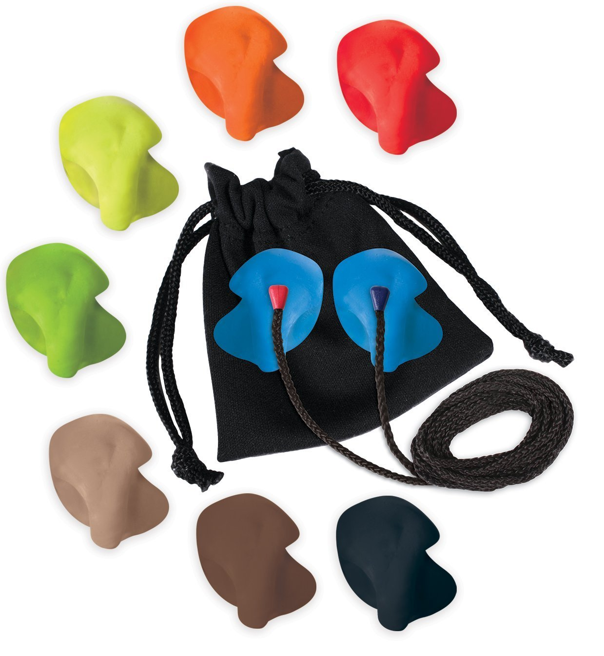 Re Ear DIY (Do-It-Yourself) Custom Molded Earplug Kit (Blue) with Cord by Re
