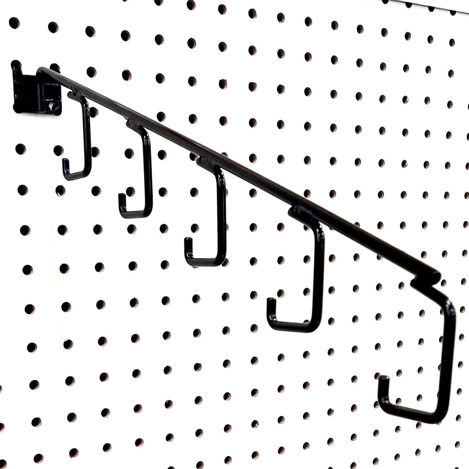 Black 2 Pack 15 L Pegboard 5 Hook Waterfall Faceout Hook