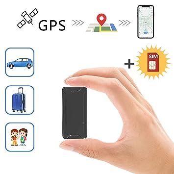 Toptellite Mini Localizador gps para coche , Posición en tiempo real Antirrobo GPS Localizador recargable GPS Tracker para Vehículos/niños magnético ...