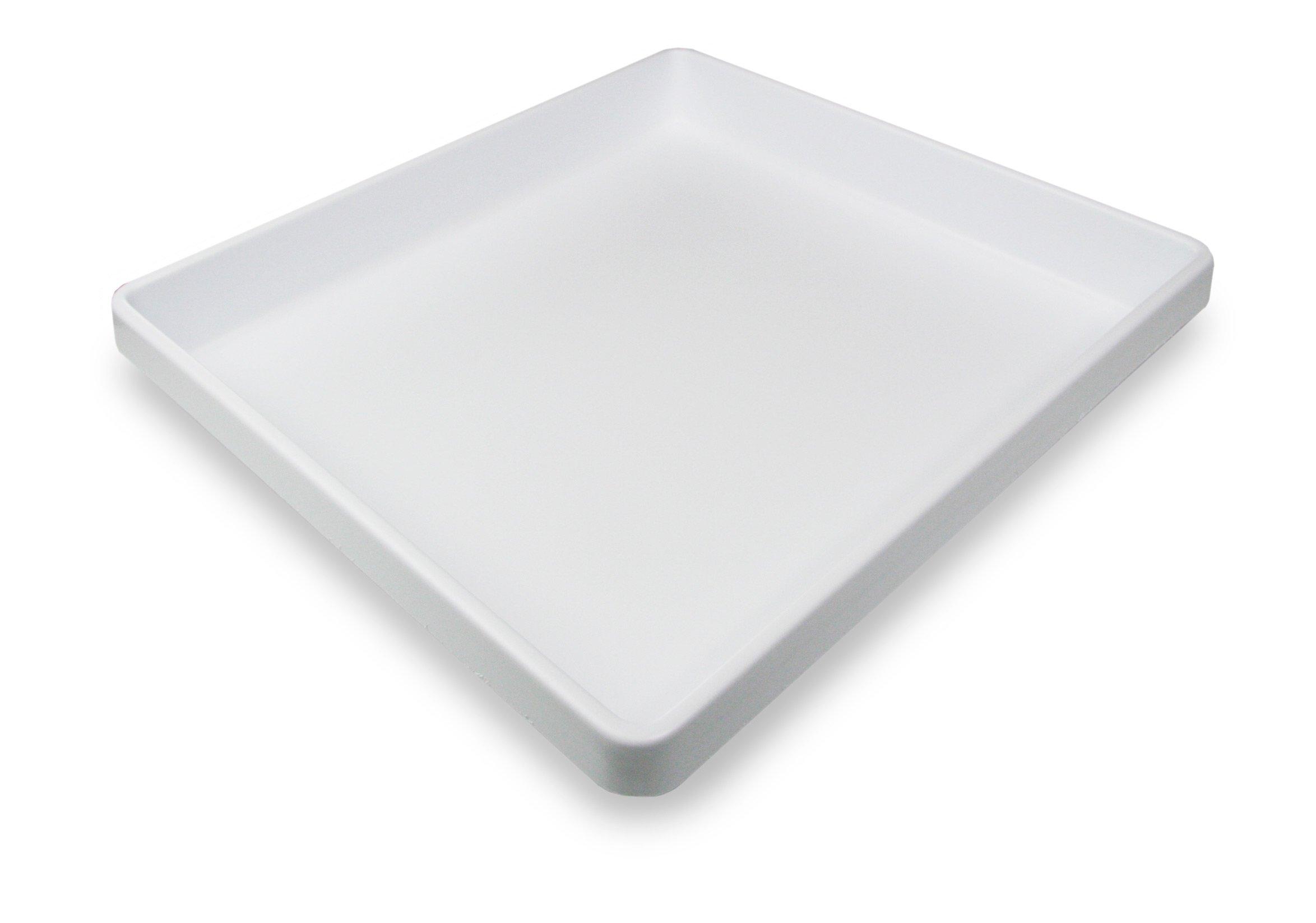 TrippNT 50064 White Polystyrene Plastic Big Drawer Organizer, 1 Compartment, Large, 19'' Width x 2.38'' Height x 17.5'' Depth