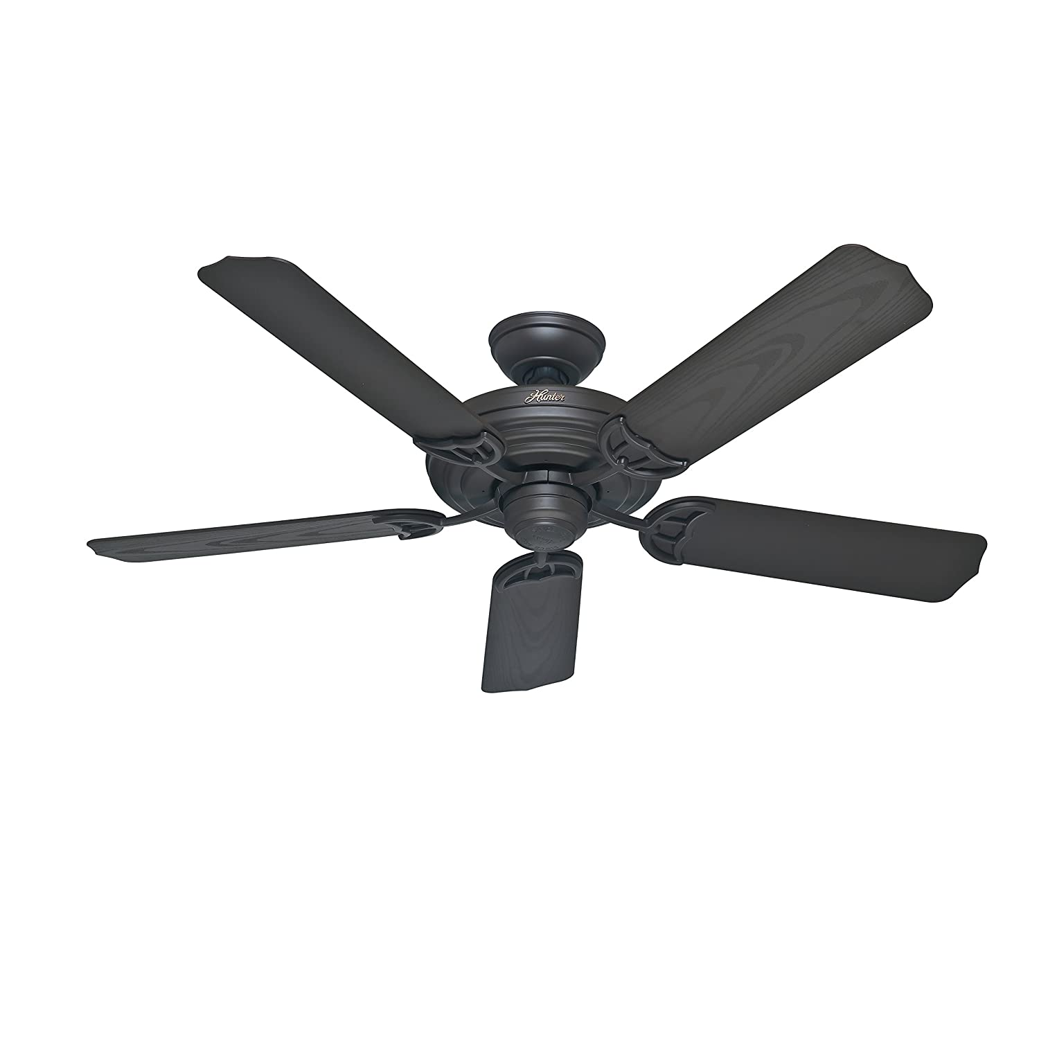 Hunter Fan 52 inch Outdoor Ceiling Fan in New Bronze with Stainless Steel Hardware to Resist Rust, 5 Blade Renewed
