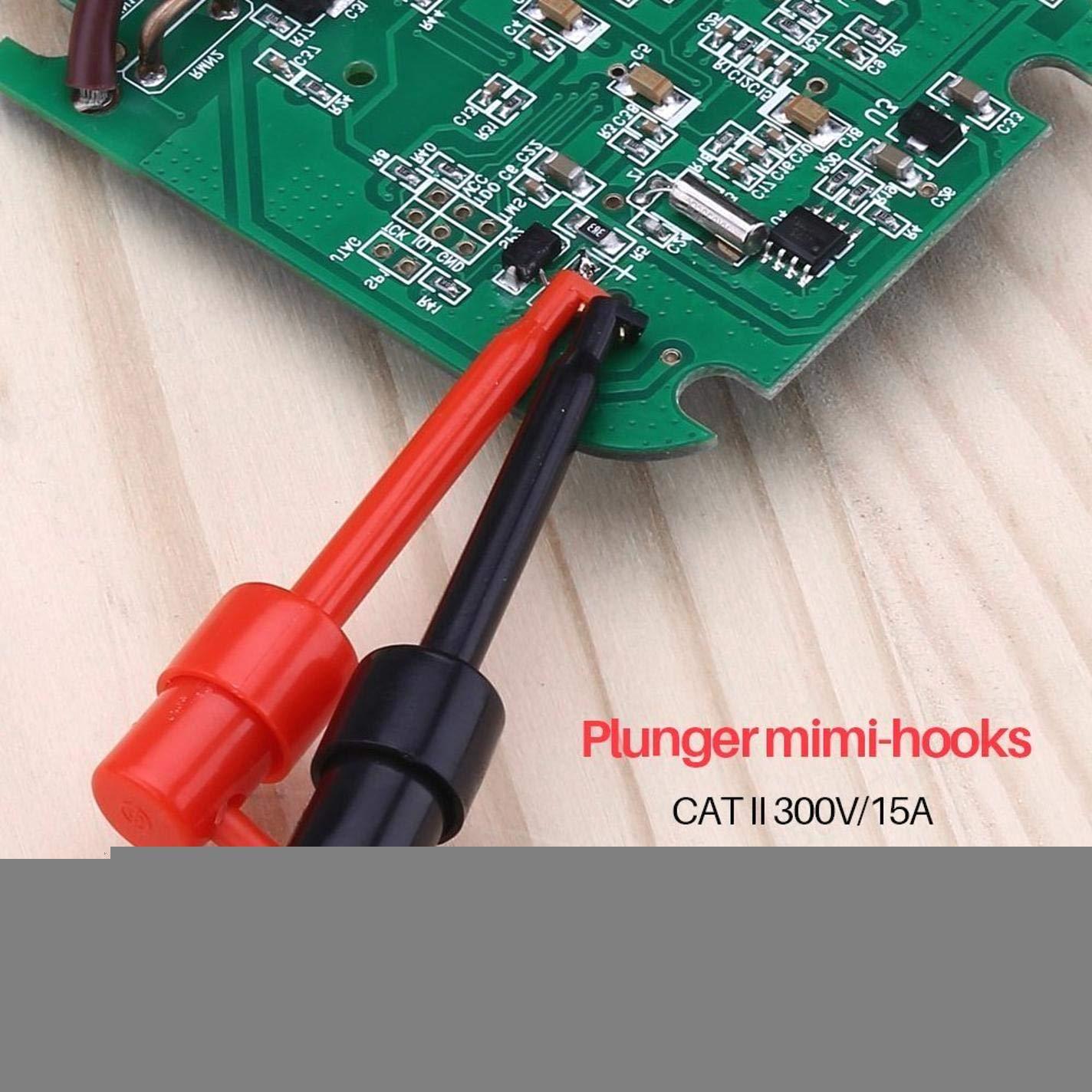 Set diagnostico Professionale elettronico Cavi multimetro Digitale , Compresi Morsetti a Coccodrillo sonda di Prova Estensione Test ALONGB Kit Cavi di Prova Mini-Ganci organizzatore Libero