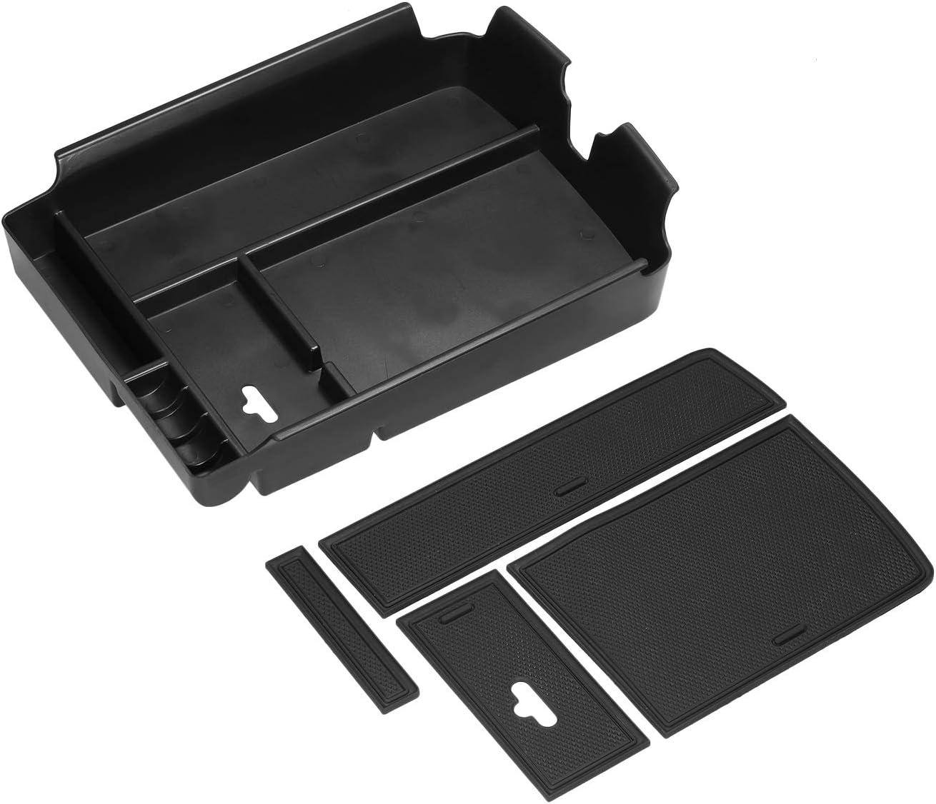 Festnight Center Console Organizer Armrest Storage Box Compatible with VW Volkswagen Atlas 2016-2019