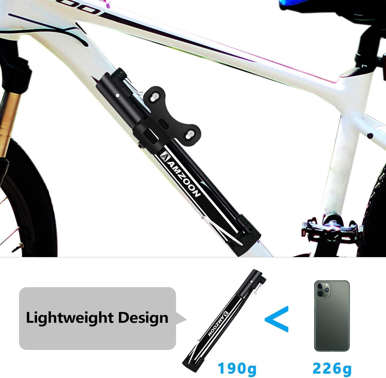 Mini vélo Pompe Portable Vélo Pneu Gonfleur Pompe à main Flexi Adaptateur Aiguille