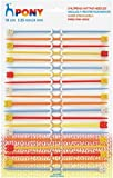 Pony Childrens Kids Starter Knitting Needles Knit Pins Length 18cm Width 3.25 & 4mm Assorted Pack (10 Pairs)