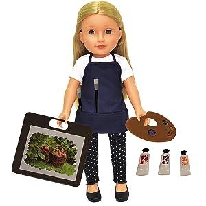 Doll Art Set - 11 Piece Art Set for 18 inch Dolls - Fits American Girl Doll