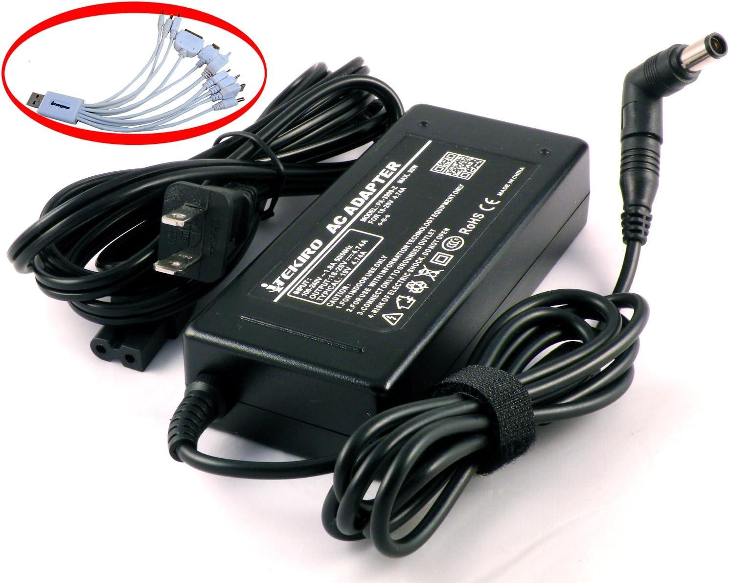 iTEKIRO Laptop AC Power Adapter Notebook Charger for HP Pavilion dv6t-1100 dv6t-7000 dv6z dv6z-1000 dv7-6163us dv7-6178us dv7-7012nr dv7-6b32us dv7-6b55dx dv7-6b77dx dv7-6c23cl dv7-6c20us dv7-6c60us dv7-6c80us dv7-6c43cl dv7-6c95dx + iTEKIRO10-in-1 USB Charging Cable